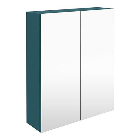 Arezzo 600 Matt Green 2-Door Mirror Cabinet