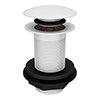 Arezzo Matt White Unslotted Click Clack Basin Waste profile small image view 1