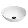 Arezzo 400mm Matt White Round Counter Top Basin profile small image view 1