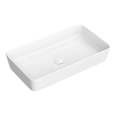 Arezzo 610 x 350mm Gloss White Slim Rectangular Counter Top Basin