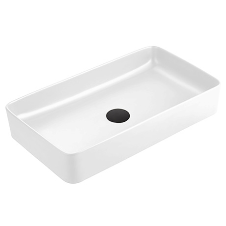 Arezzo 610 x 350mm Gloss White Slim Rectangular Counter Top Basin