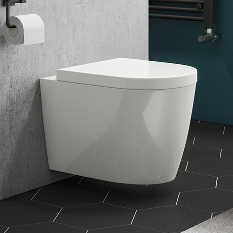 Arezzo Wall Hung Toilet Inc. Soft Close Seat