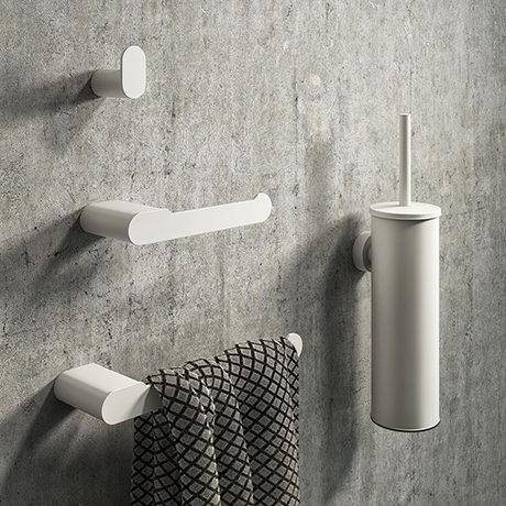 Arezzo Matt White 4-Piece Bathroom Accessory Pack