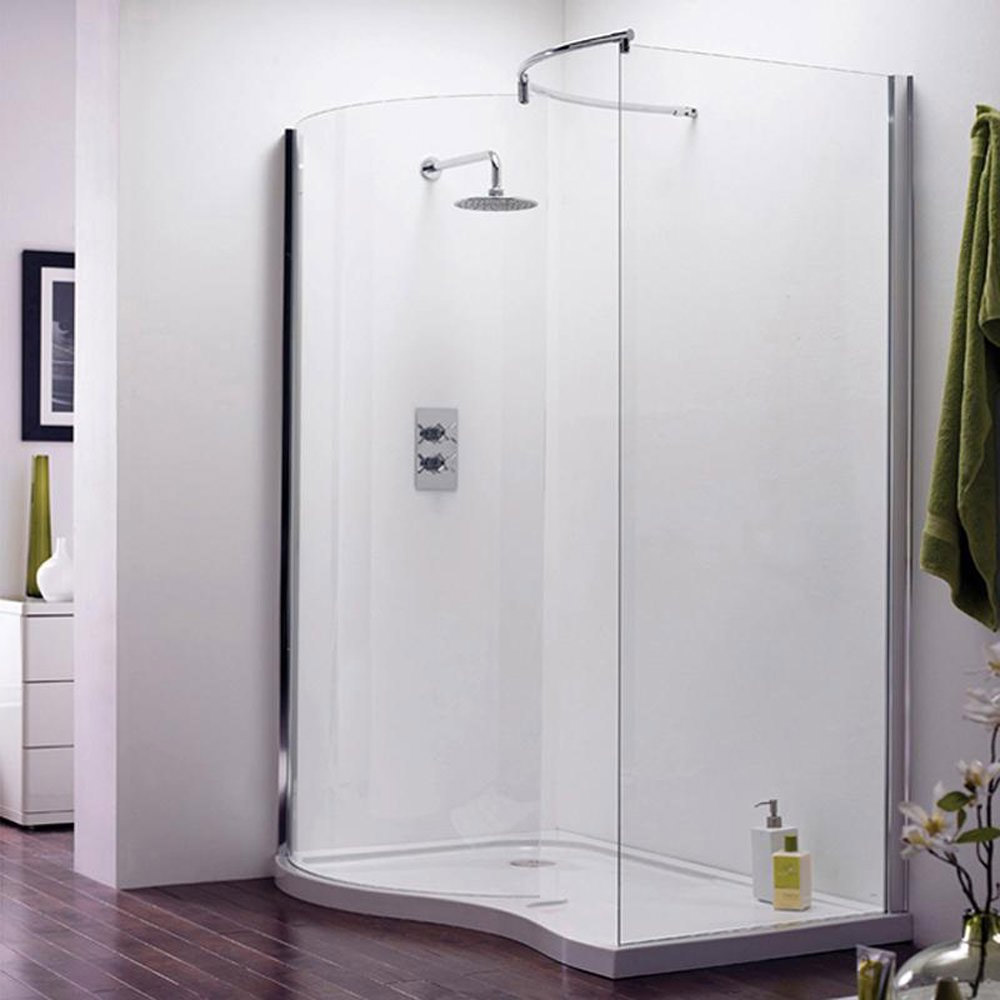 Aegean Universal Walk In Shower Enclosure with Tray & Waste Large Image