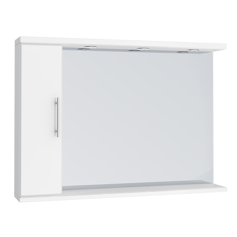 Alaska 1050mm Illuminated Mirror Cabinet (High Gloss White - Depth 170mm) Large Image