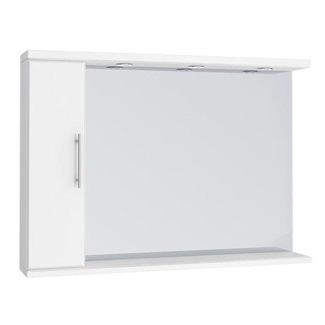 Alaska 1050mm Illuminated Mirror Cabinet (High Gloss White - Depth 170mm)