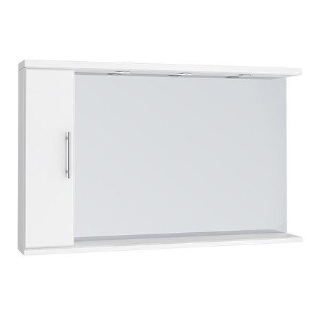 Alaska 1200mm Illuminated Mirror Cabinet (High Gloss White - Depth 170mm)