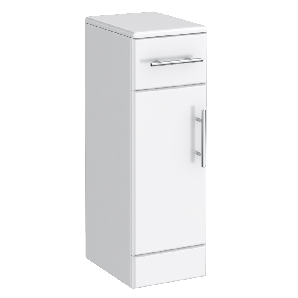 Alaska High Gloss White Deep Cupboard W250 X D330mm At