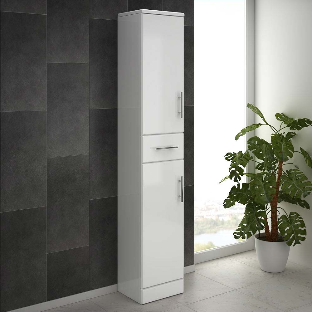 Alaska 350mm Tallboy Unit (High Gloss White - Depth 300mm) profile large image view 3