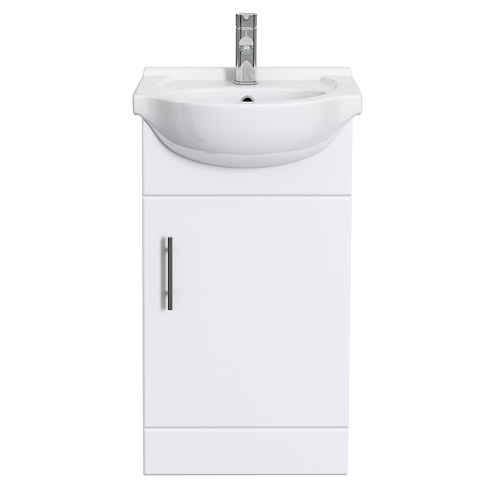 Alaska 450mm Small Vanity (High Gloss White - Depth 300mm) Feature Large Image