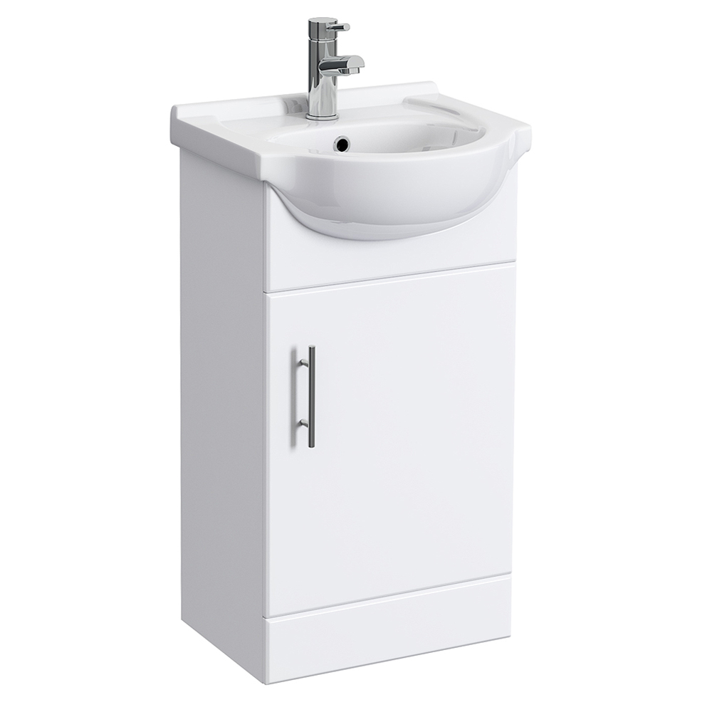 Alaska 450mm Small Vanity (High Gloss White - Depth 300mm) Large Image