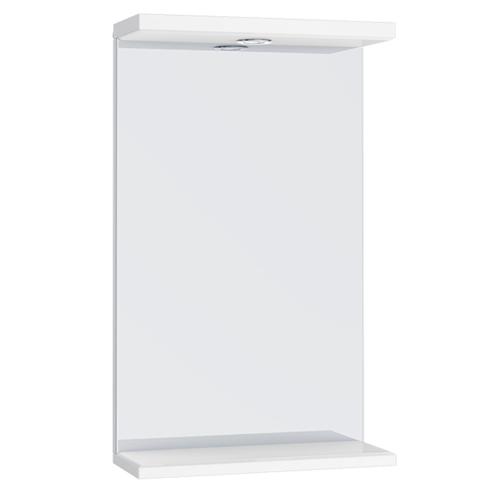 Alaska 450mm Illuminated Mirror (High Gloss White - Depth 170mm) profile large image view 1