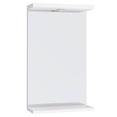 Alaska 450mm Illuminated Mirror (High Gloss White - Depth 170mm)