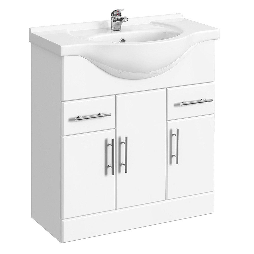 Alaska Bathroom Suite with B-Shaped Shower Bath Standard Large Image