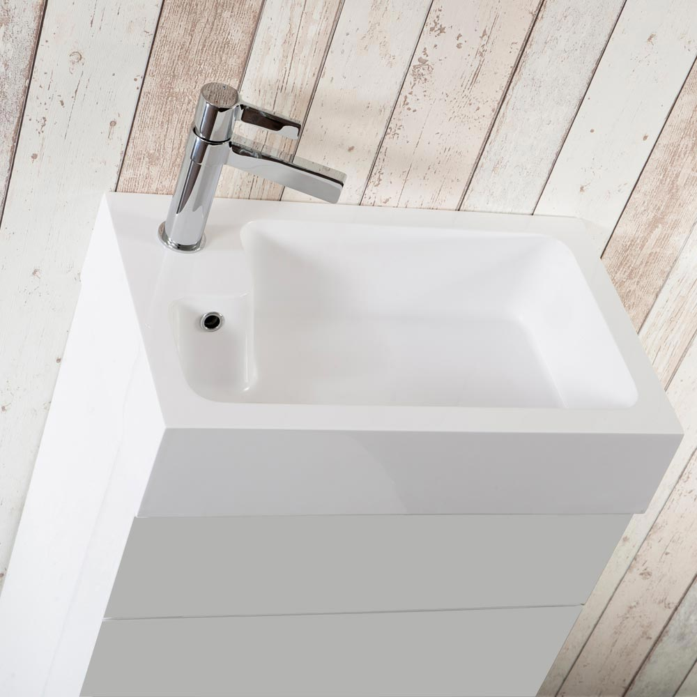 Alaska Combined Two-In-One Wash Basin & Toilet (500mm wide x 300mm)  Feature Large Image