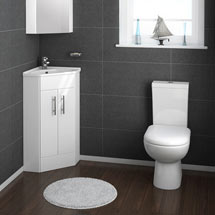 Alaska Cloakroom Suite with Corner Basin Medium Image