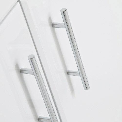 Alaska 1850mm Double Basin Vanity Unit Suite (High Gloss White - Depth 300mm) In Bathroom Large Image