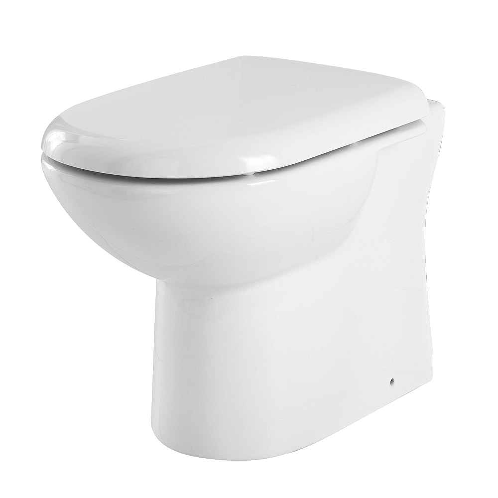 Alaska 1050mm Vanity Unit Cloakroom Suite + Basin Mixer (Gloss White - Depth 300mm) profile large image view 2