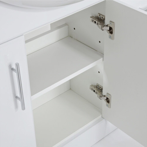Alaska Bathroom Furniture Pack - 5 Piece White Gloss Feature Large Image
