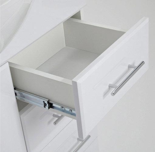 Alaska Bathroom Furniture Pack - 5 Piece White Gloss Standard Large Image
