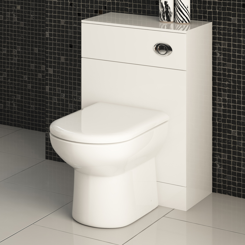 Alaska BTW WC Unit (High Gloss White - Depth 300mm) - 2 Size Options Profile Large Image