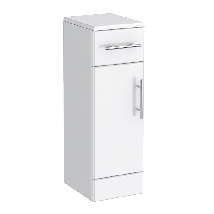 Alaska 250mm Deep Cupboard (High Gloss White - Depth 300mm) Large Image