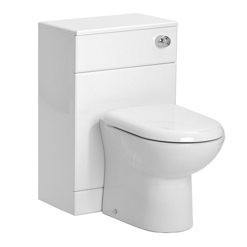 Alaska 1050mm Vanity Unit Cloakroom Suite (Gloss White - Depth 300mm) profile large image view 4