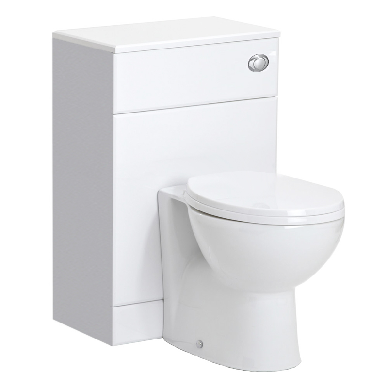 Alaska 1150mm Vanity Unit Cloakroom Suite (High Gloss White - Depth 300mm) profile large image view 5