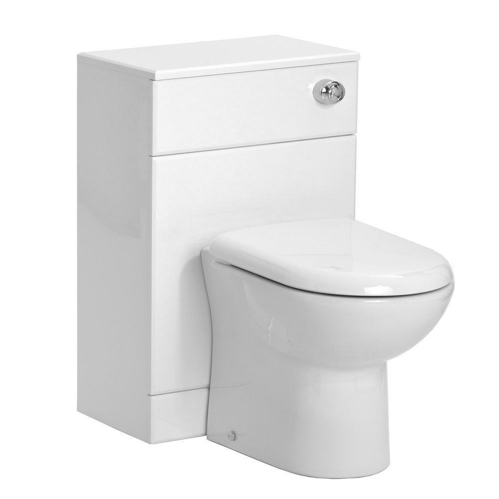 Alaska 950mm Cloakroom Vanity Unit Suite + Basin Mixer (Gloss White - Depth 300mm) Standard Large Image