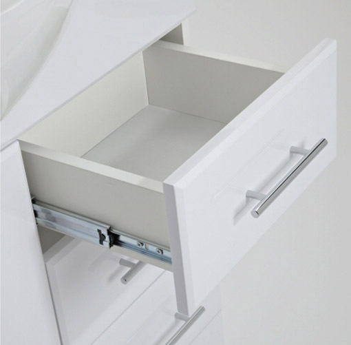 Alaska 1520mm Vanity Unit Bathroom Suite (High Gloss White - Depth 330mm) profile large image view 3