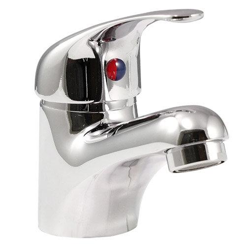 Alaska 1520mm Vanity Unit Suite + Basin Mixer (High Gloss White - Depth 330mm) Standard Large Image