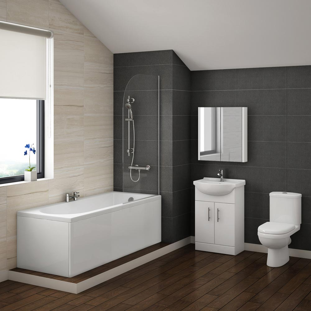 Alaska vanity bathroom suite inc 1700mm bath victorian for Bathroom bathroom bathroom