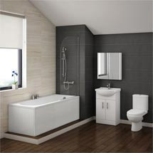 Alaska Vanity Bathroom Suite Inc. 1700mm Bath Medium Image