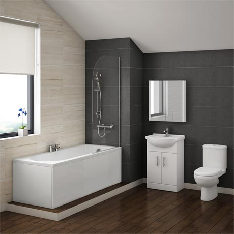 Alaska Vanity Bathroom Suite Inc. 1700mm Bath