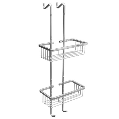 Alberta 2 Tier Hanging Shower Caddy - Chrome | Victorian Plumbing UK