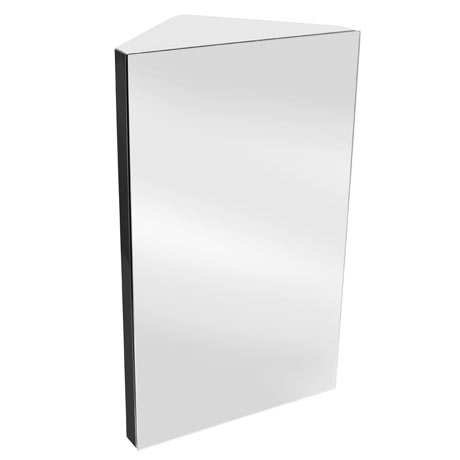 Alberta Polished Stainless Steel Corner Mirror Cabinet