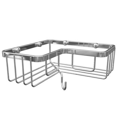Alberta Rectangular Corner Wire Soap Basket - Chrome