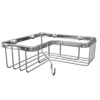 Alberta Rectangular Corner Wire Soap Basket - Chrome profile small image view 1
