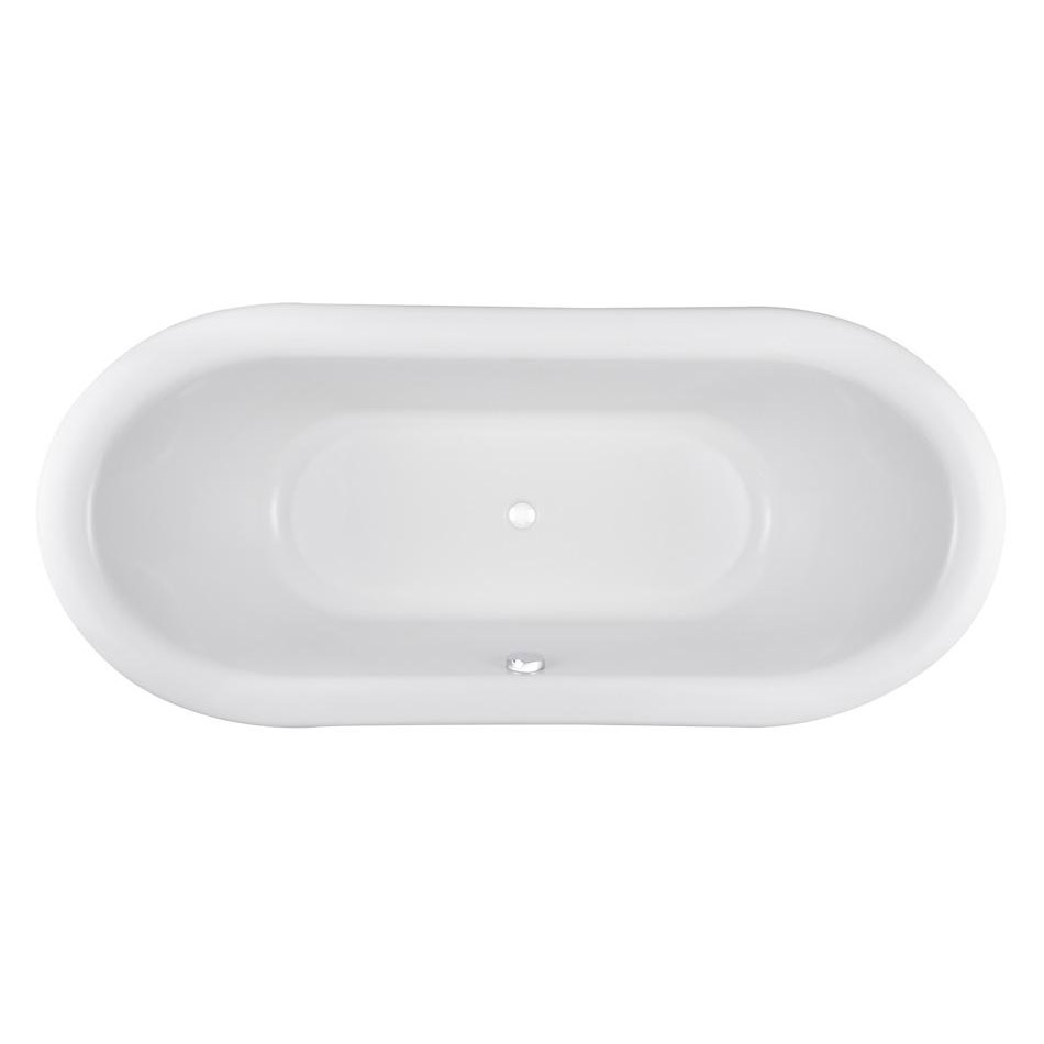 Premier Alice 1750 Double Ended Roll Top Slipper Bath with Skirt profile large image view 4