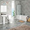 Alps Modern Shower Bath Suite profile small image view 1