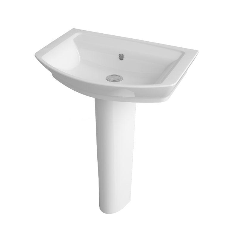 Hudson Reed Alton 4 Piece Bathroom Suite - CC Toilet & 1TH Basin with Pedestal - 3 x Basin Size Options profile large image view 3