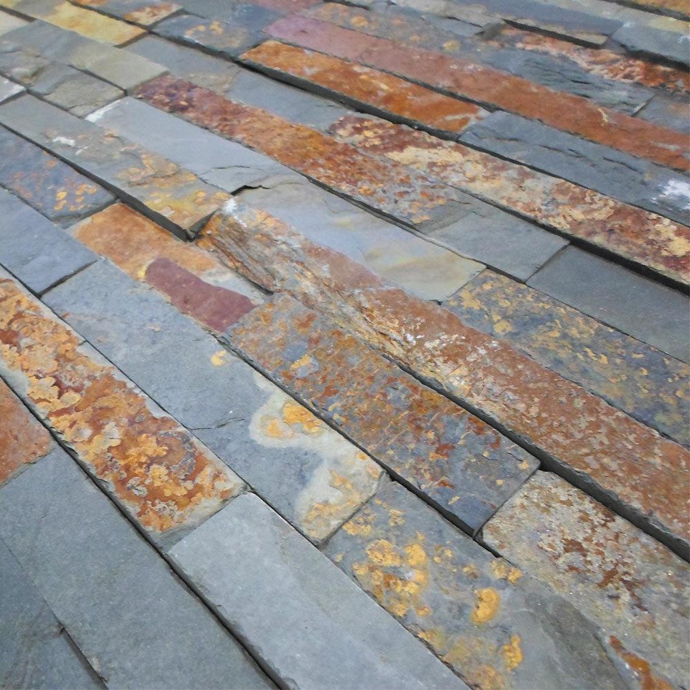 Amaro Rustic Slate Split Face Stone Cladding Panels - 400 x 100mm  Profile Large Image