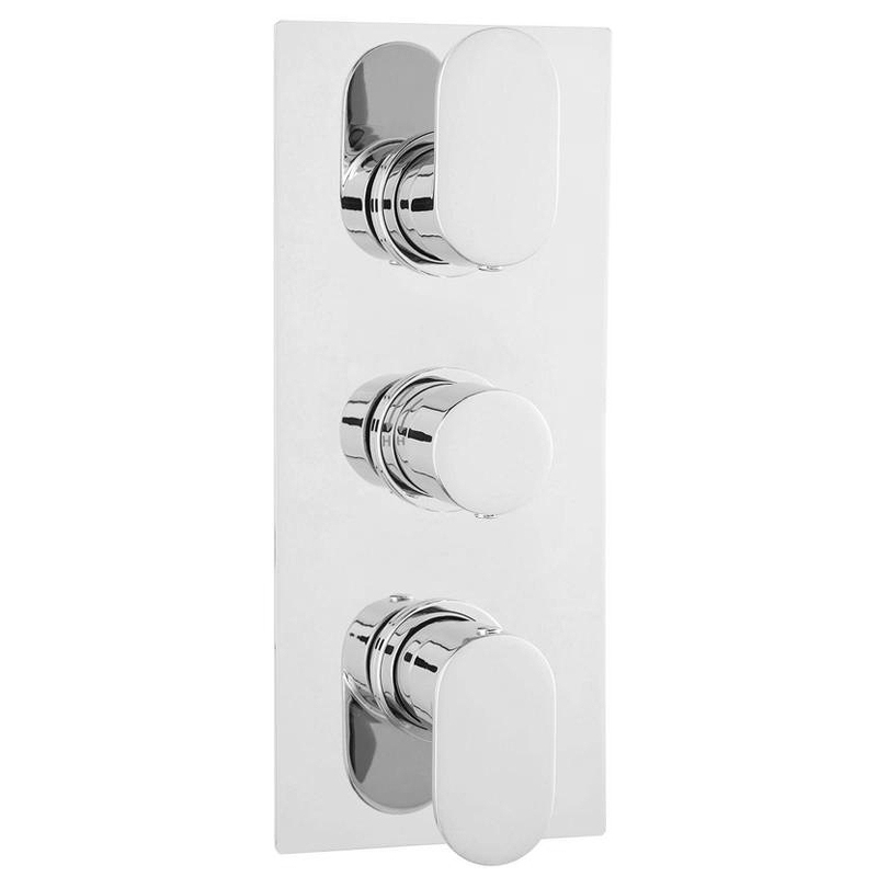 Amos Concealed Thermostatic Triple Shower Valve Large Image