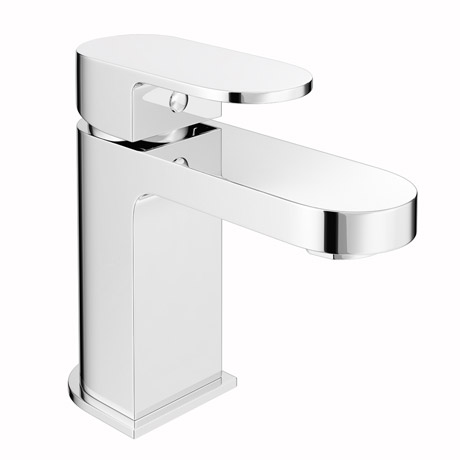 Amos Mono Basin Mixer Tap with Click Clack Waste
