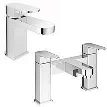 Amos Modern Tap Package (Bath + Basin Tap) Medium Image