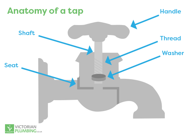 Cross section of a tap and what's inside