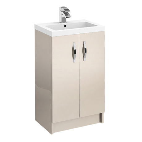 Apollo 500mm Floor Standing Vanity Unit (Gloss Cashmere - Depth 355mm)