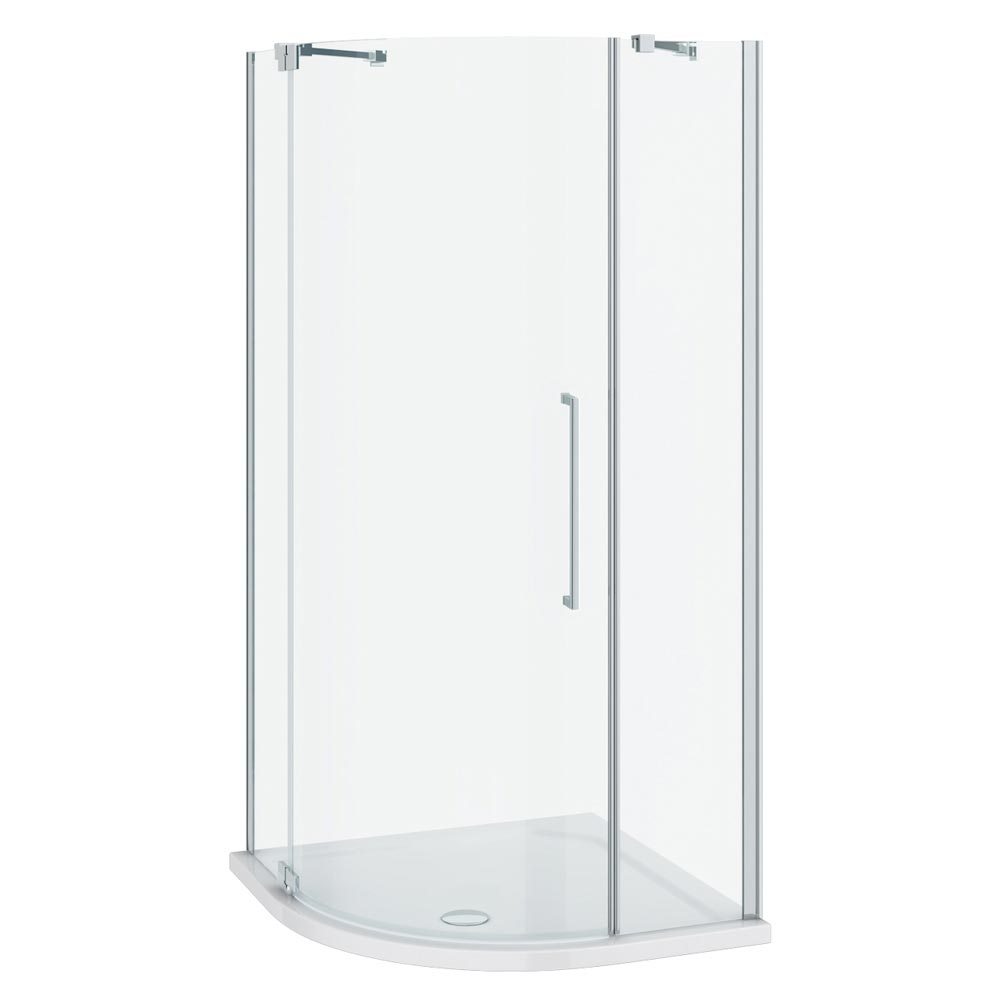 Apollo 800x800mm Frameless Single Door Quadrant Enclosure (Inc. Tray + Waste) profile large image view 3