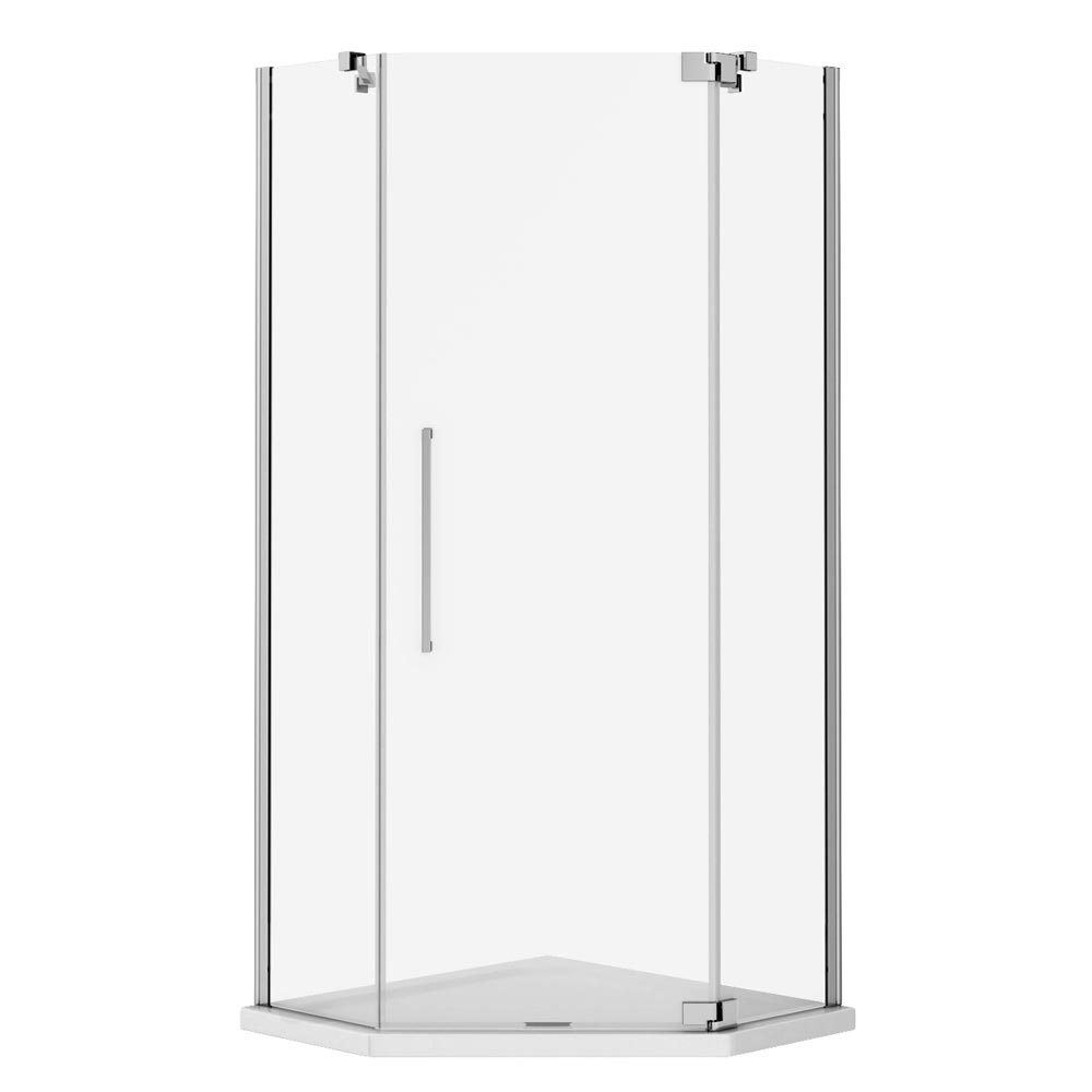 Apollo 900x900mm Frameless Diamond Enclosure (Inc. Tray + Waste) Feature Large Image