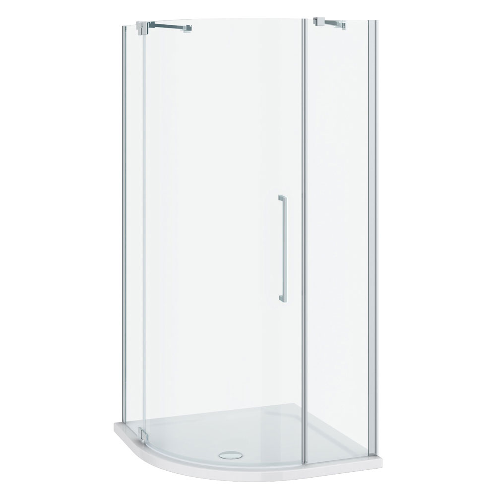 Apollo 900x900mm Frameless Single Door Quadrant Enclosure (Inc. Tray + Waste) profile large image view 3